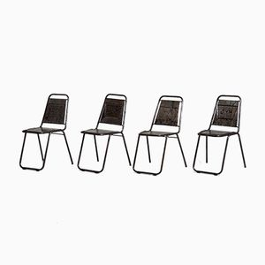 French Café Chairs, 1960s, Set of 4