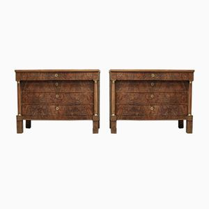 19th Century French Walnut Nightstands, Set of 2