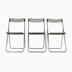 Vintage Swedish Folding Chairs, 1978, Set of 3