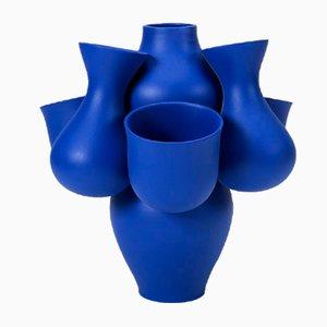 Blue Qucha Vase by Jean Baptiste Fastrez for Moustache, 2018