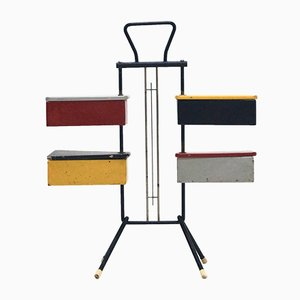 Boite à Couture Mid-Century par J. Teders pour Metalux, Pays-Bas, 1950s