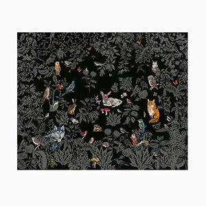 Papier Peint Foret Noir par Nathalie Lété pour Moustache, 2018