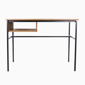 Minimalistischer Teak Furnier Schreibtisch von Pierre Gauriche für Meurop, 1960er