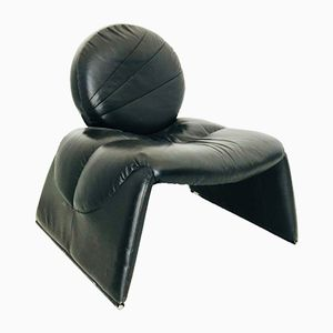Modernist Leather Side Chair, 1970s
