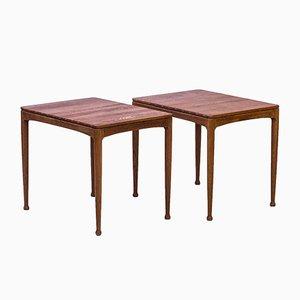 Tables d'Appoint Modèle Micado par Gunnar Myrstrand & Scen Engström pour Tingströms, 1950s, Set de 2