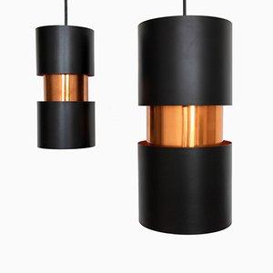Lampes à Suspensions Vesuv par Jo Hammerborg pour Fog & Mørup, 1960s, Set de 2