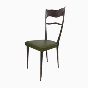 Dining Chairs with High Backs, 1950s, Set of 6