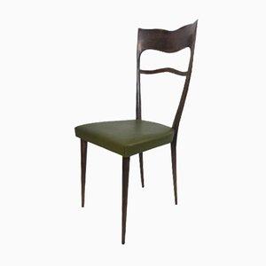 Sedie da pranzo con schienali alti, anni '50, set di 6