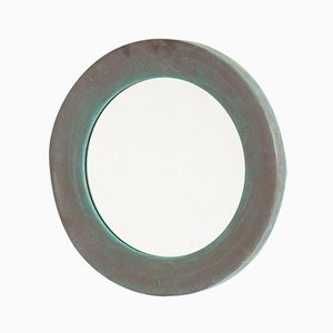 Swedish Patinated Copper Mirror from Glasmäster & Markaryd, 1960s