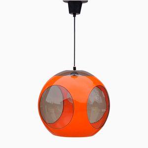 Lámpara Era Espacial naranja de Luigi Colani, años 70