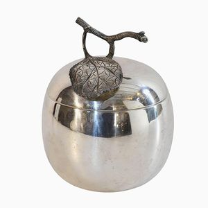 Vintage Apple Shaped Ice Bucket from Teghini Firenze