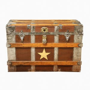 Antique American Steamer Trunk