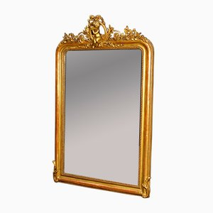 French Antique Gold Mirror, 1880s