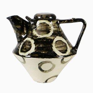 Jarrón danés de cerámica hecho a mano, años 60