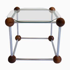 Mesa auxiliar vintage en forma de cubo