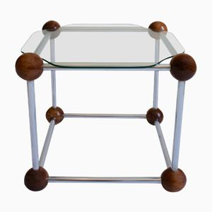 Vintage Cube-Shaped Side Table