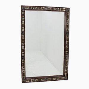 Specchio in palissandro con mattonelle decorative di Royal Copenhagen, anni '60