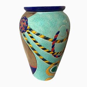 Rocaille Vase by Danillo Curetti for de Longwy, 1980s