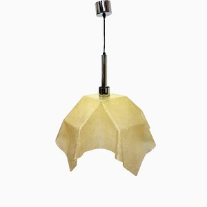 Fazzoleto Fiberglas Lampe von Salvatore Gregorietti für Valenti, 1960er