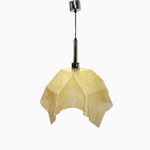 Lámpara Fazzoleto de fibra de vidrio de Salvatore Gregorietti para Valenti, años 60