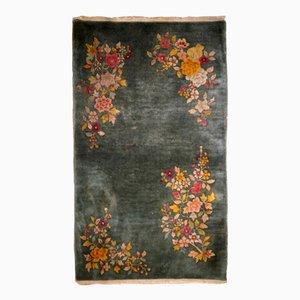 Chinesischer handgefertigter vintage Art Deco Teppich, 1920er
