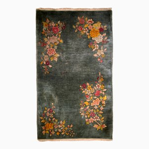 Vintage Chinese Art Deco Handmade Rug, 1920s