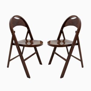 Bauhaus B 751 Folding Chaira from Thonet, 1930s, Set of 2