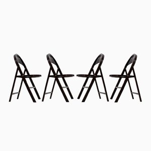 Bauhaus B 751 Folding Chairs from Thonet, 1930s, Set of 4