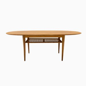 Mid-Century Oval Coffee Table, 1950s