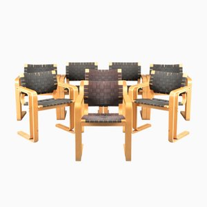 Geflochtene Mid-Century Stühle von Rud Thygesen & Johnny Sørensen für Magnus Olesen, 8er Set