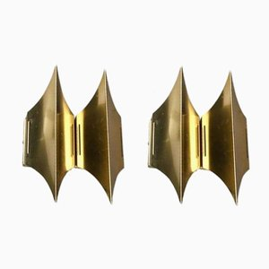 Brass Sconces from Lyfa, 1960s, Set of 2
