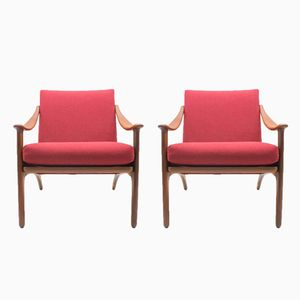 Vintage Lounge Chairs by Arne Hovmand Olsen, Set of 2