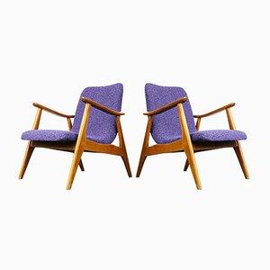 Teak Sessel von Louis van Teeffelen für WéBé, 2er Set