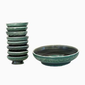 Ceramic Bowl set from Tapis Vert, 1950s