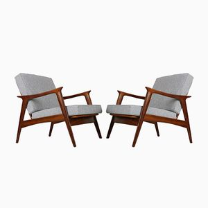 Mid-Century Lounge Chairs by Fredrik Kayser, 1950s, Set of 2