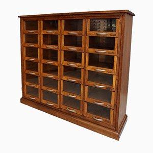 Oak Haberdashery Shop Cabinet, 1930s