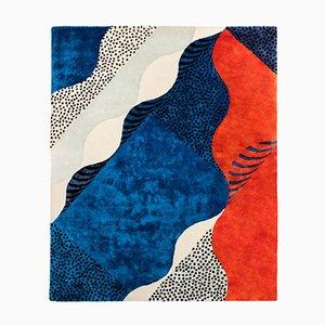 Kleiner Siebdruck Teppich von Les Graphiquants für Moustache, 2018