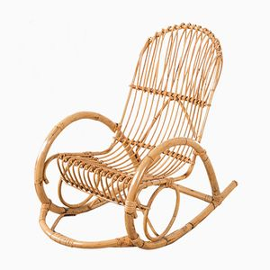 Bamboo Rocking Chair from Rohé Noordwolde, 1960s