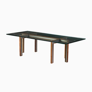 Glass Coffee Table by Henning Korch for CFC Silkeborg, 1960s