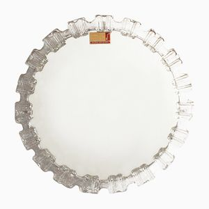 Specchio rotondo con luce di Honsel Leuchten, Germania, anni '70