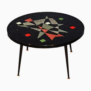 Table Basse Vintage avec Plateau en Mosaïque