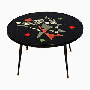 Vintage Coffee Table with Mosaic Top