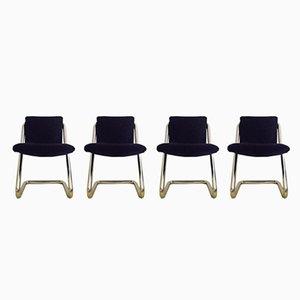 Vintage Italian Chairs, 1970s, Set of 4