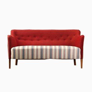 Vintage 2-Seater Wool Sofa