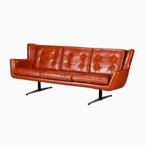 Vintage Leather 3-Seater Sofa by Skjold Sørensen