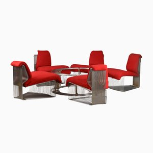Mid-Century Pantonova Lounge Set by Verner Panton for Fritz Hansen