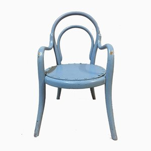 Vintage Curved Wood Children's Chair from Thonet