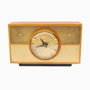 Deutsche Mid-Century Kaminsims Uhr von Weimar, 1970er