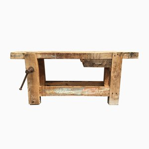 Antique Beech Work Table