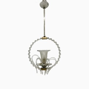 Antique Murano Pendant Light by Barovier & Toso